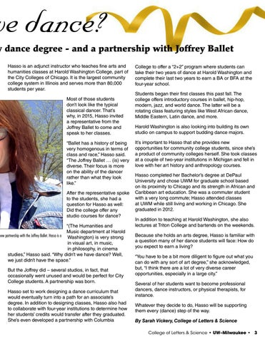 Page 3 of Shall We Dance? Art History alum designs new dance degree - and a partnership with Joffrey Ballet