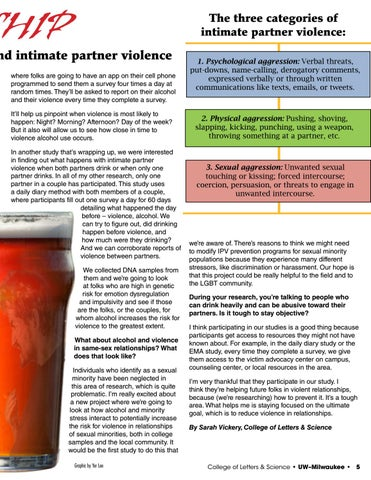 Page 5 of A Bad Relationship: UWM Psychologist examines the link between alcohol and intimate partner violence
