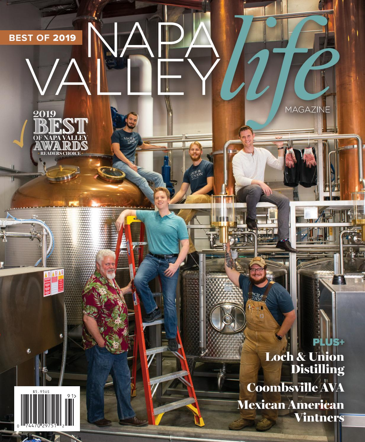 Napa Valley Life Magazine Best of Napa Valley 2019 by