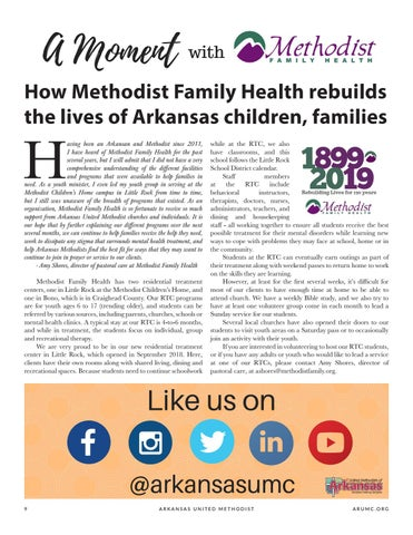 Page 10 of How Methodist Family Health rebuilds the lives of Arkansas children, families