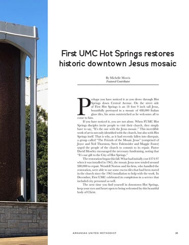Page 29 of First UMC Hot Springs restores historice downtown Jesus mosaic