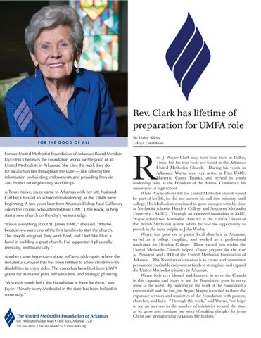 Page 2 of Rev. Clark has lifetime of preparation for UMFA role