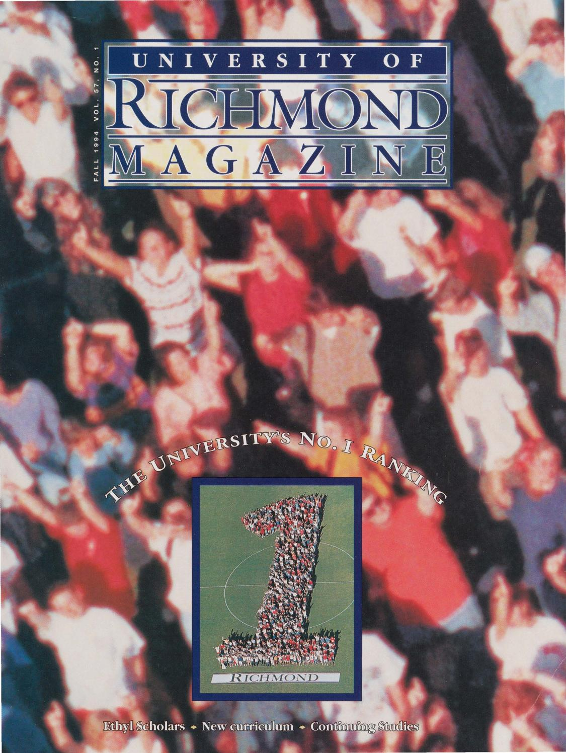 University of Richmond Magazine Fall 1994 by UR Scholarship