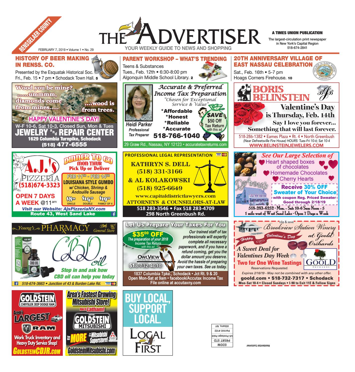 Local First The Advertiser 020719 by Capital Region Weekly Newspapers -  issuu