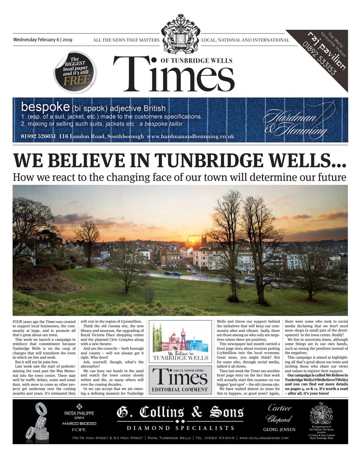 af66899c5c031 Times of Tunbridge Wells 6th February 2019 by One Media - issuu