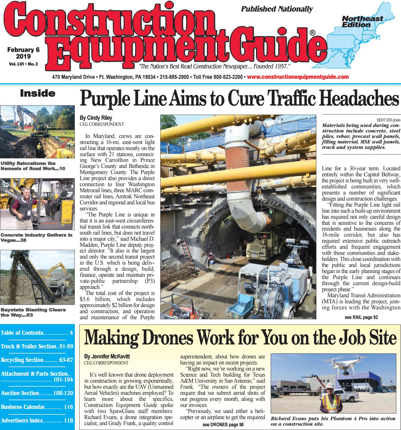 Northeast 3 February 6, 2019 by Construction Equipment Guide