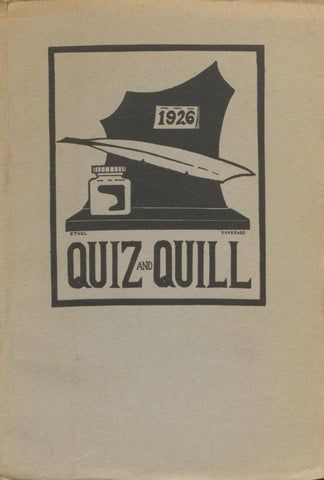 1926 Spring Quiz And Quill By Otterbein University Issuu
