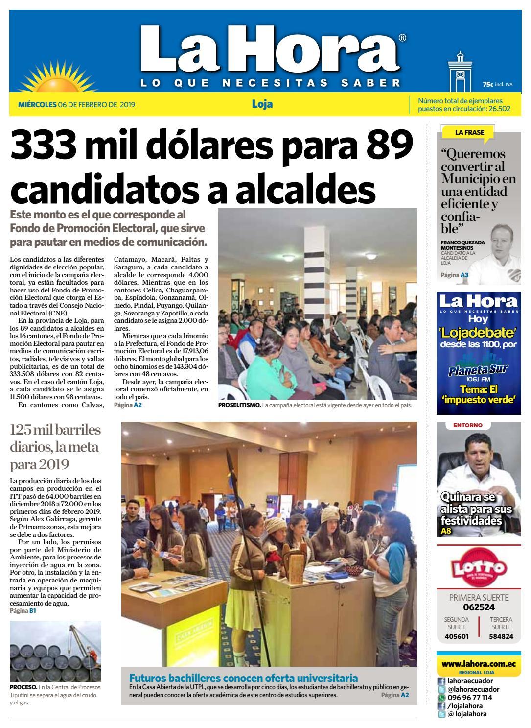 Diario La Hora Loja 06 De Febrero 2019 By Diario La Hora