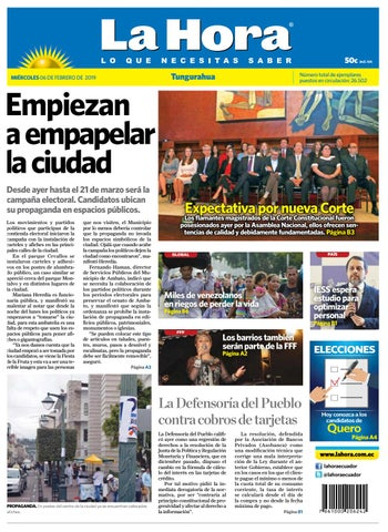 4eb9351eb3a7 TUNGURAHUA 06 DE FEBRERO DE 2019 by Diario La Hora Ecuador - issuu