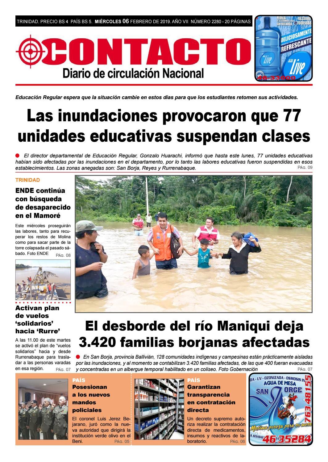 Diario Contacto 06 De Febrero De 2019 By Diario Contacto Beni