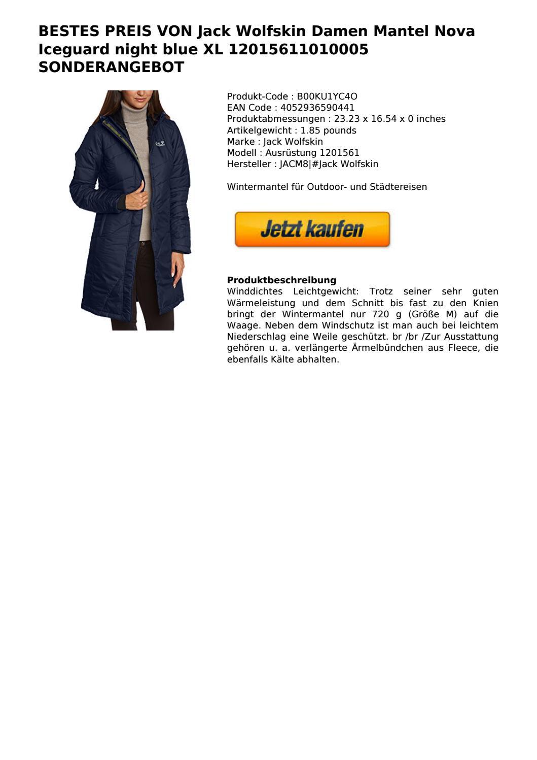 Bestes Wolfskin Damen Nova Iceguard Jack Preis Von Mantel UVzqSMp