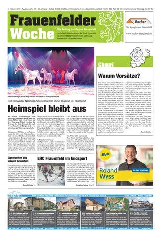 promo code 62cf9 de9de Frauenfelder Woche, Ausgabe KW 06, 6. Februar 2019 by ...