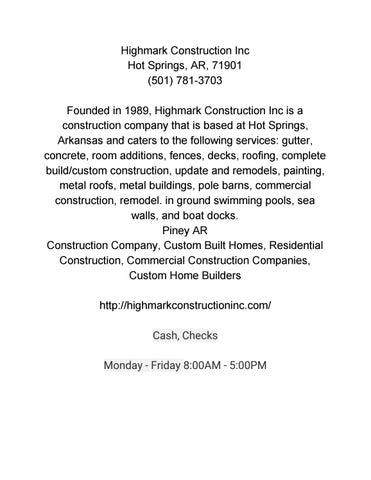 Highmark Construction Inc By