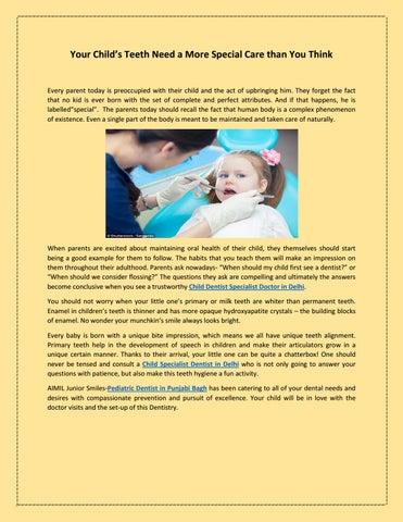 Pediatric Dentist in Punjabi Bagh by aimiljunior smiles - issuu
