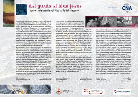 Dal guado al blue jeans - Memoria del tessile nell Alta Valle del ... 89d913e1d85