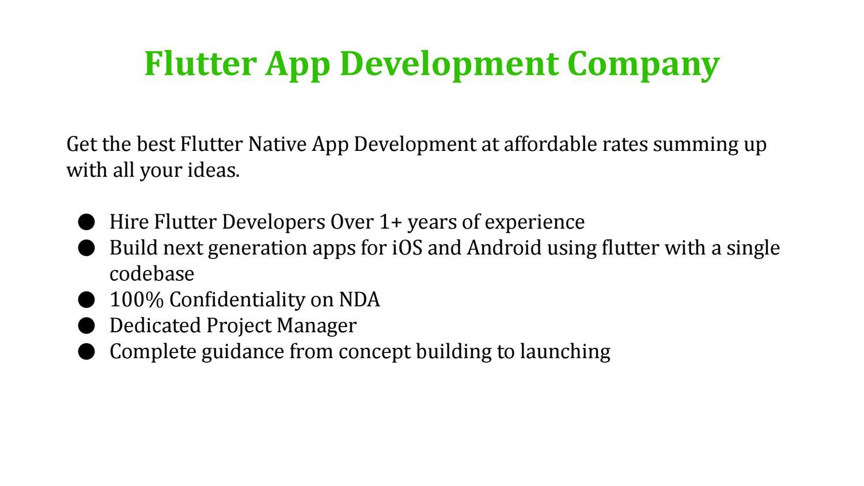 Flutter App Development Company | Hire Flutter Developer by
