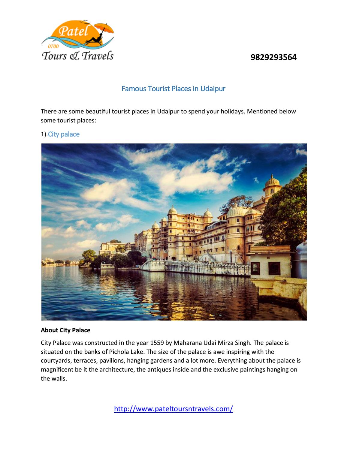 Famous Tourist Places in Udaipur by akshita_mehta - issuu