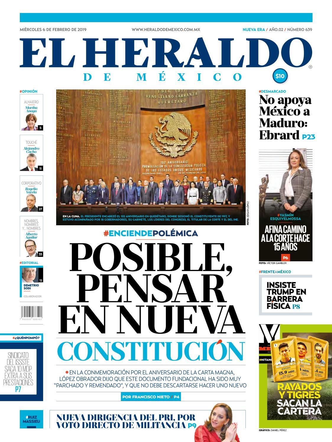a040fd8bfbf 6 de febrero de 2019 by El Heraldo de México - issuu
