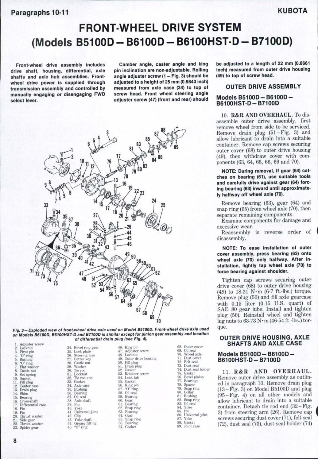 Kubota B5100D Tractor Service Repair Manual by 1639483 - issuu