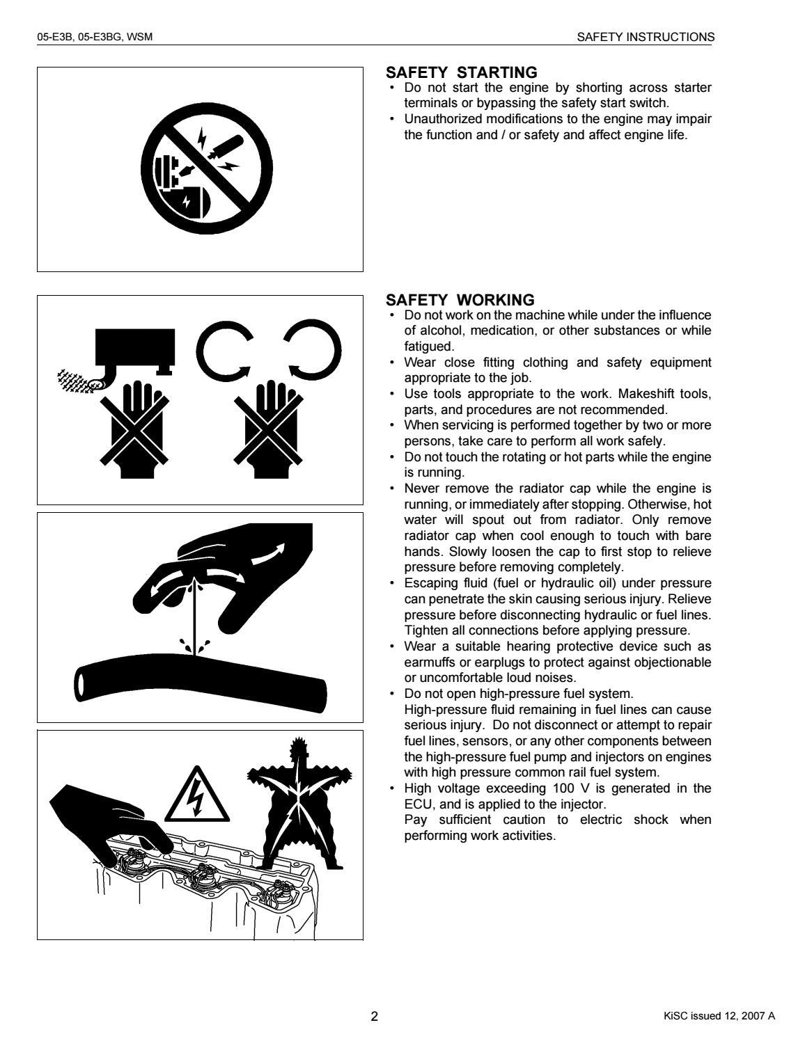 KUBOTA D1305-E3B DIESEL ENGINE Service Repair Manual by