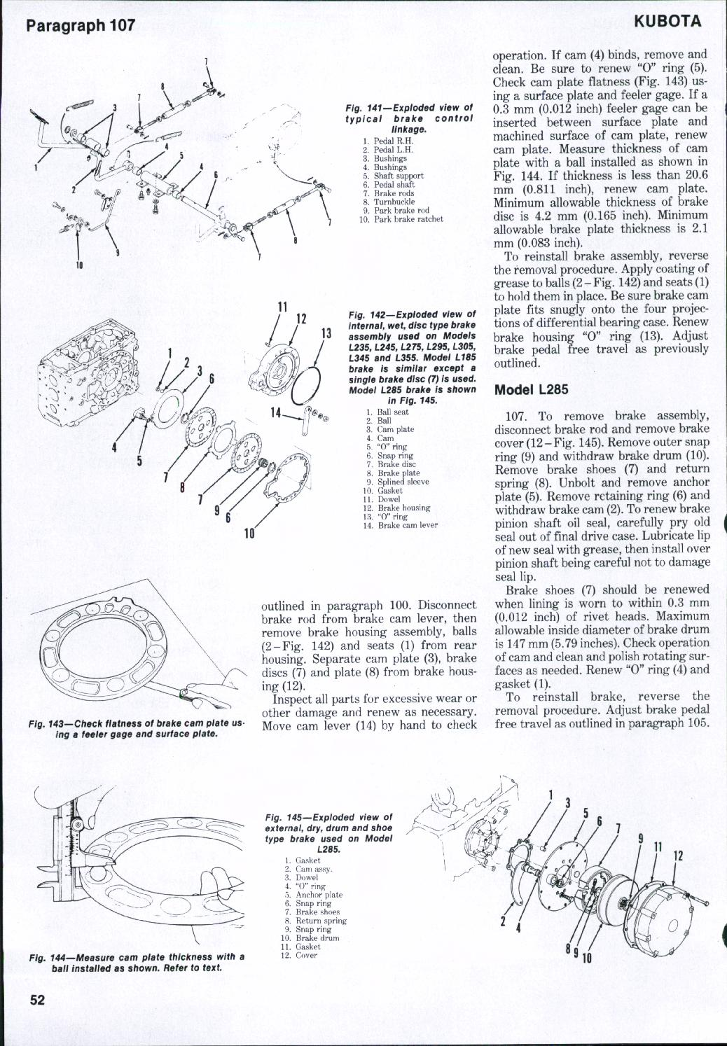 Business & Industrial Kubota L275 Tractor Parts Manual Assembly ...