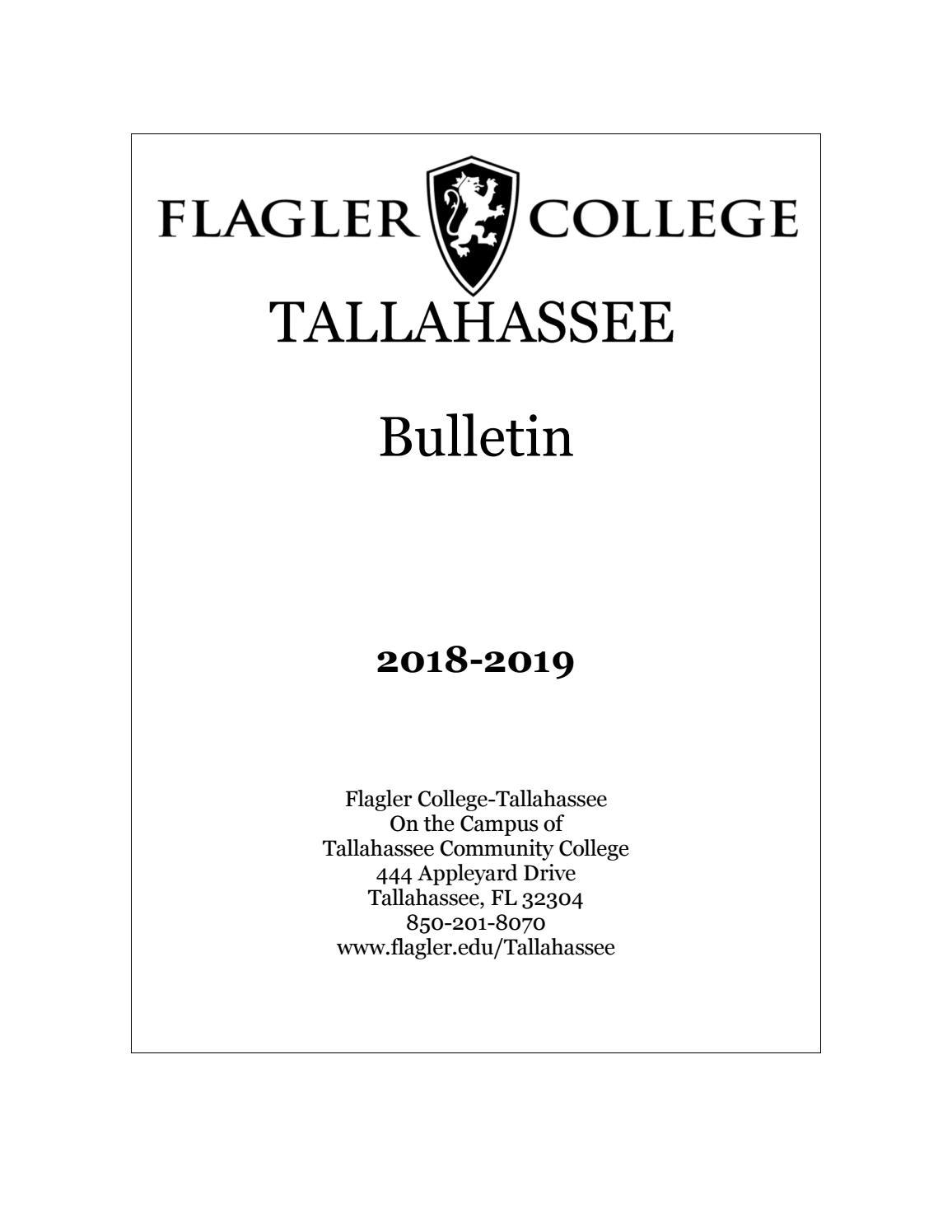 2018 - 2019 Bulletin by Flagler College - issuu
