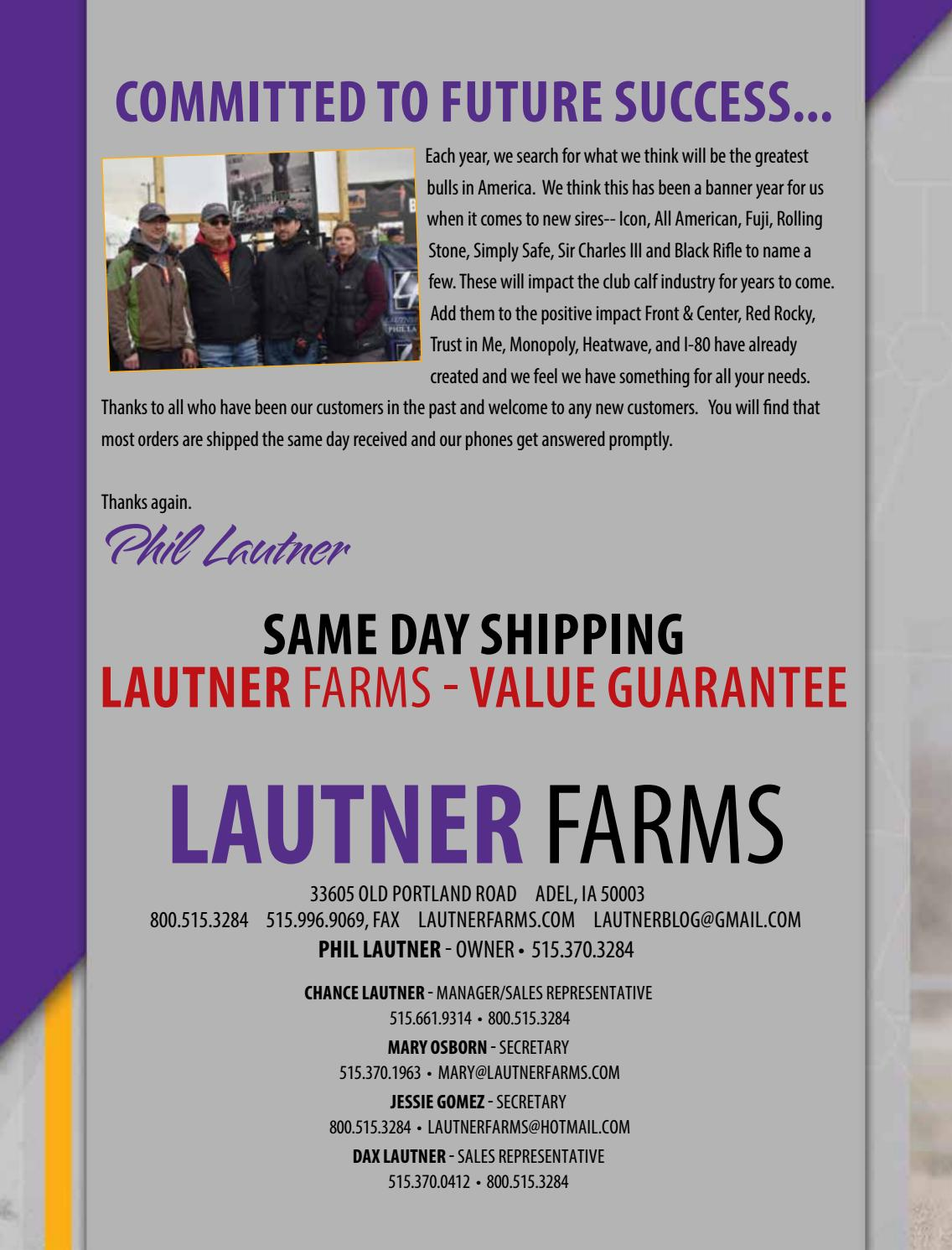 2019 Lautner Farms Sire Directory by SCI - Stephanie Cronin