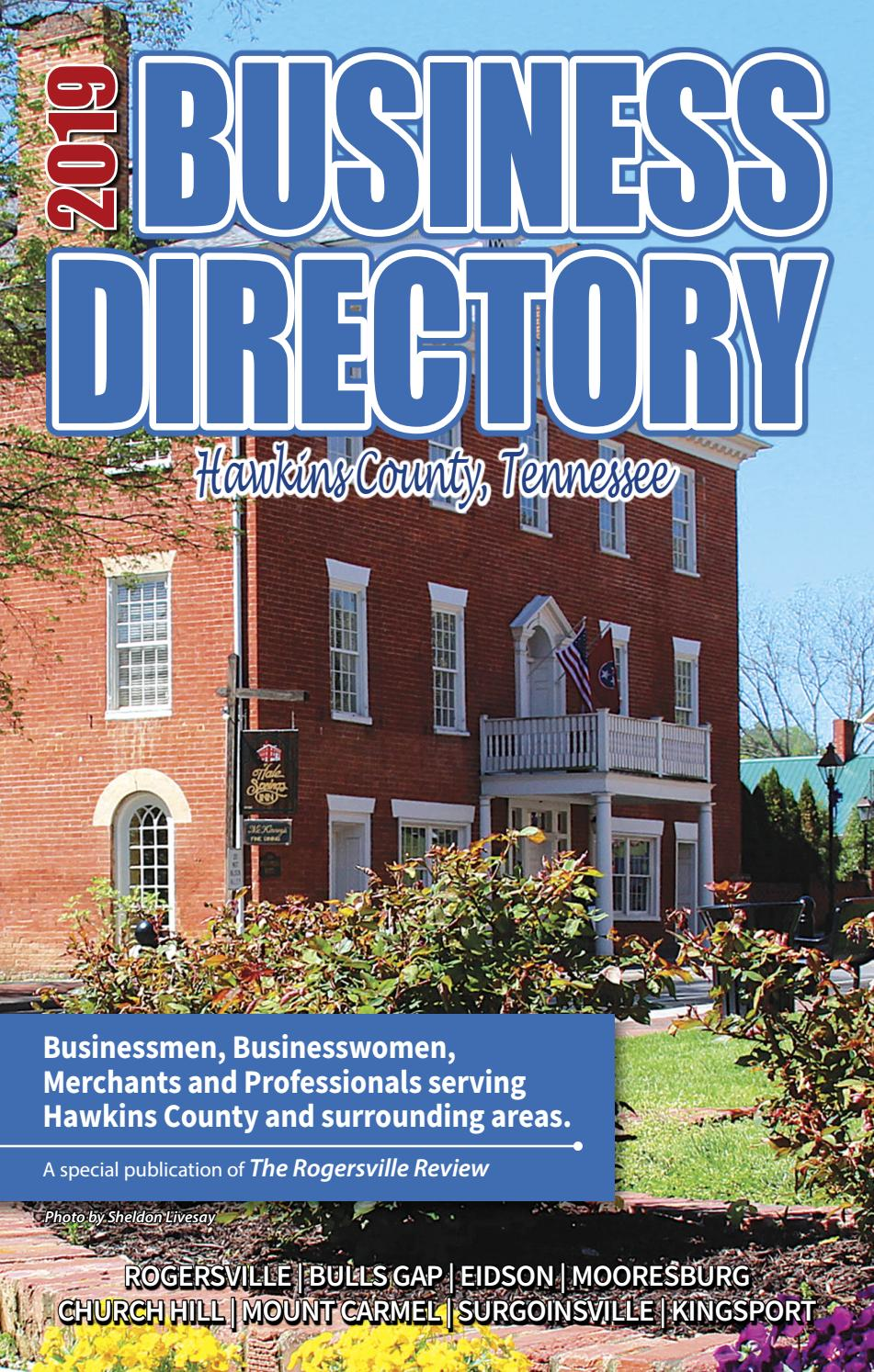 2019 Hawkins Co  Business Directory by Discover Hawkins