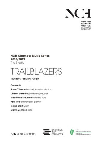 Female Composers Series: Trailblazers Programme | 7th