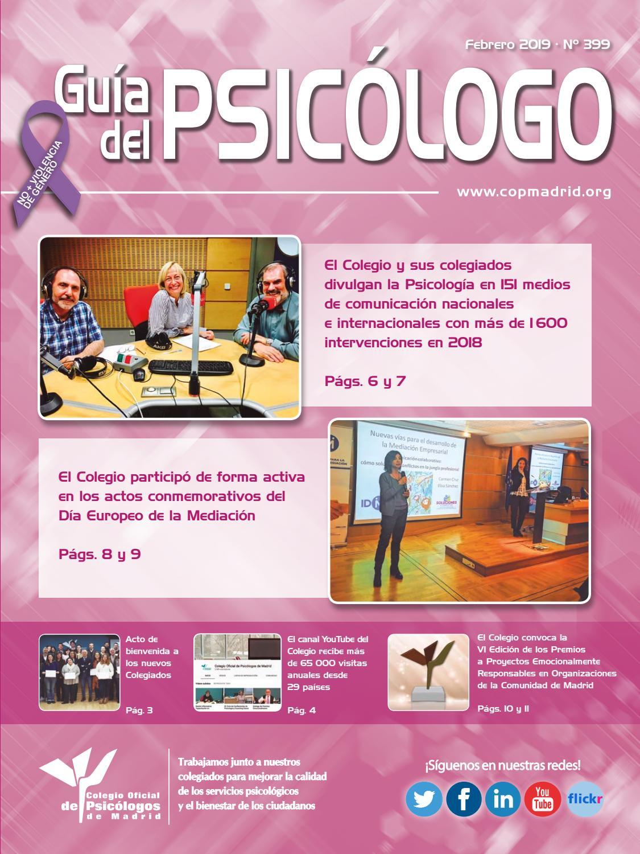 847abced52 Guía del Psicólogo mes de Febrero 2019 by Colegio Oficial de Psicólogos de  Madrid - issuu