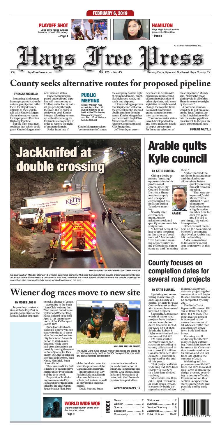 Hays Free Press February 6,2019 by Hays Free Press/News