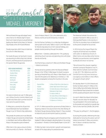 Page 15 of Meet our 2019 Grand Marshal