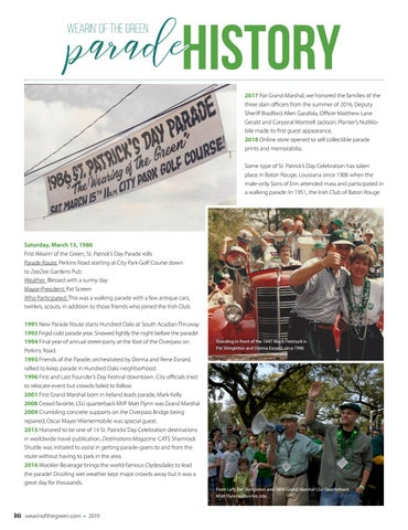 Page 16 of Wearin' of the Green Parade History