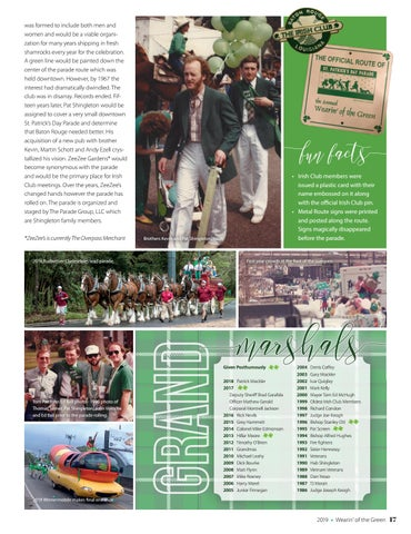 Page 17 of Wearin' of the Green Parade History