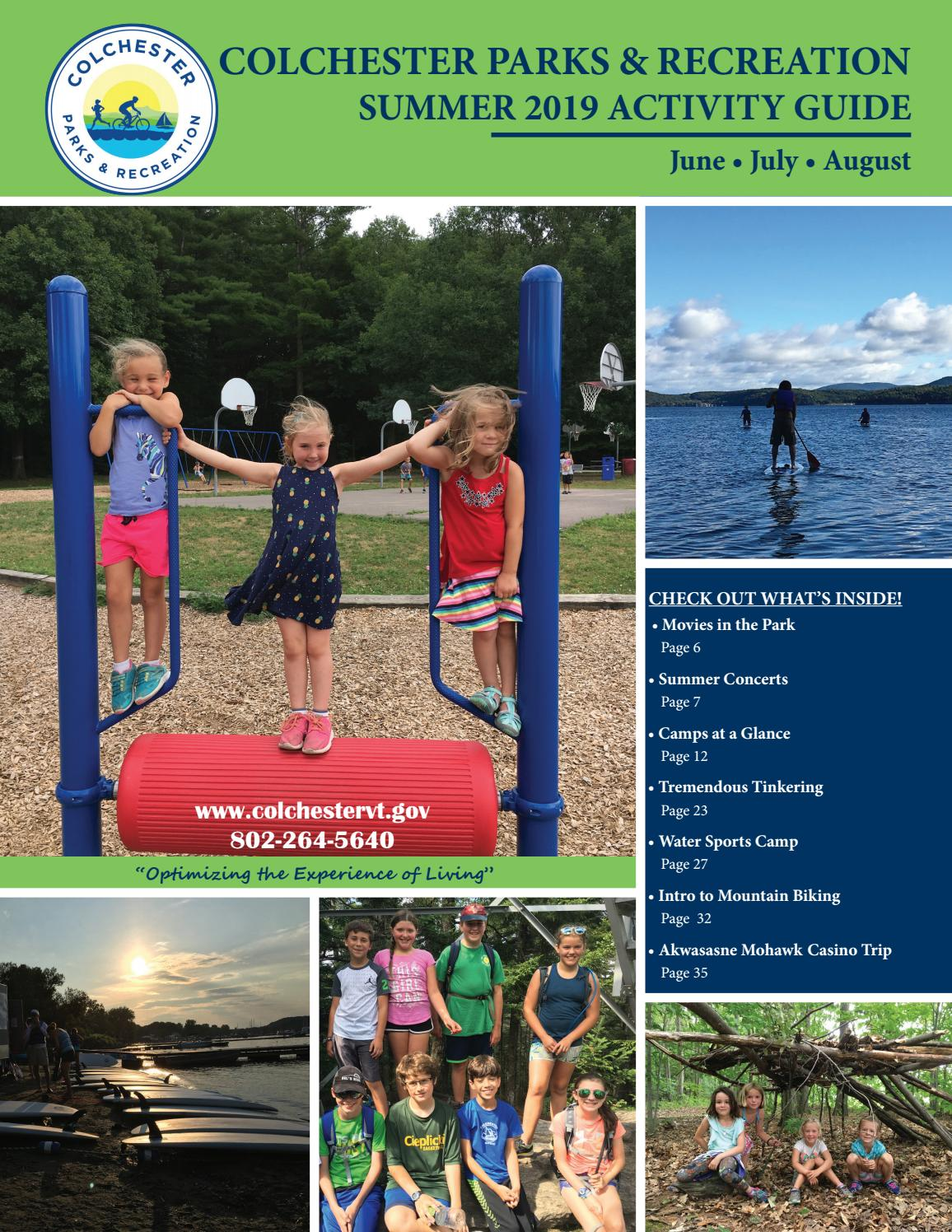 Colchester Vermont Events July 13 2020.2019 Summer Activity Guide By Colchester Parks Recreation