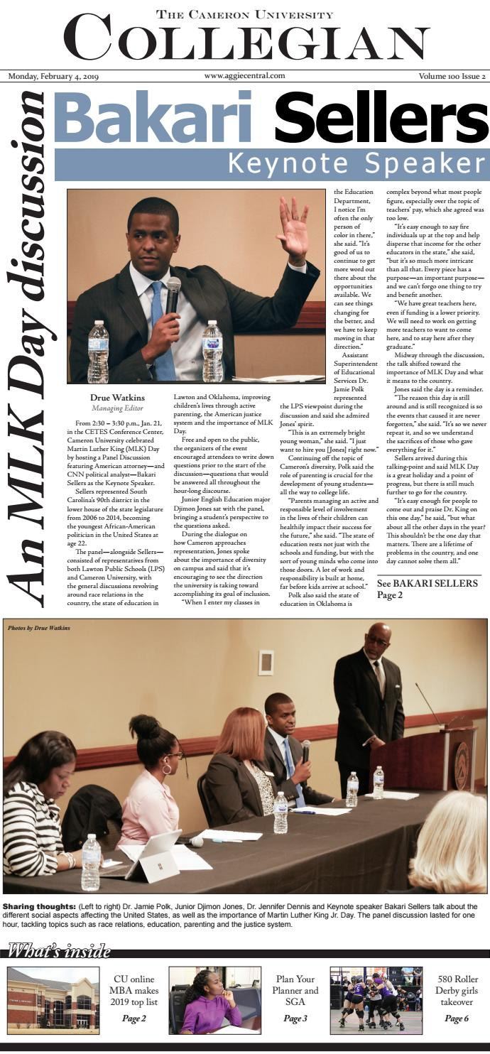The Cameron Collegian - February 4, 2019 by Cameron University
