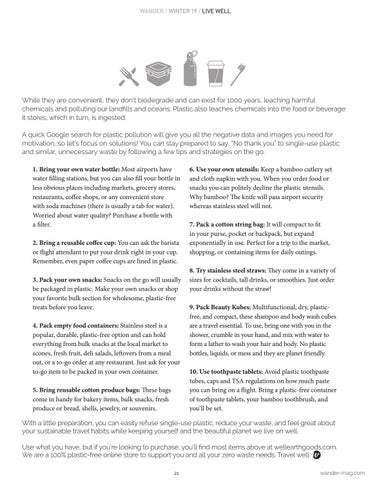 Page 21 of Zero Waste Travel Tips