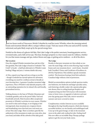 Page 37 of Destination Wellness: Whistler, BC