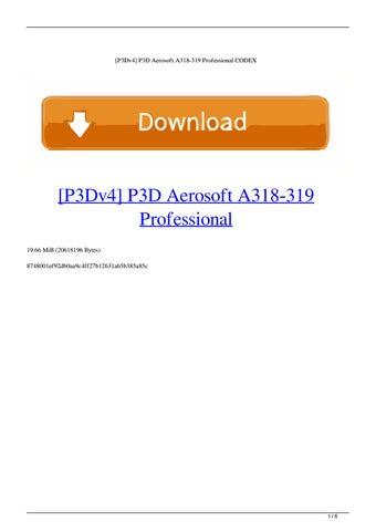 [P3Dv4] P3D Aerosoft A318-319 Professional CODEX