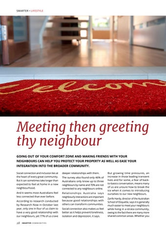 Page 28 of Meeting then greeting thy neighbour