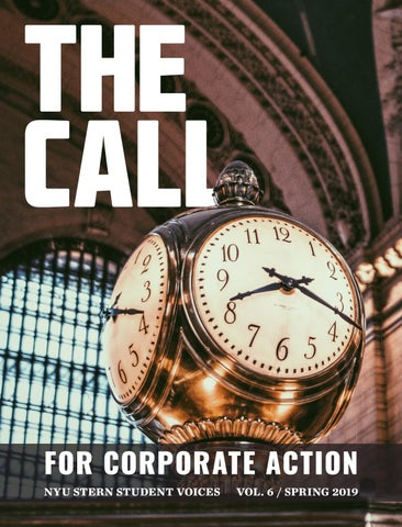 The Call for Corporate Action: NYU Stern Student Voices, Vol  6