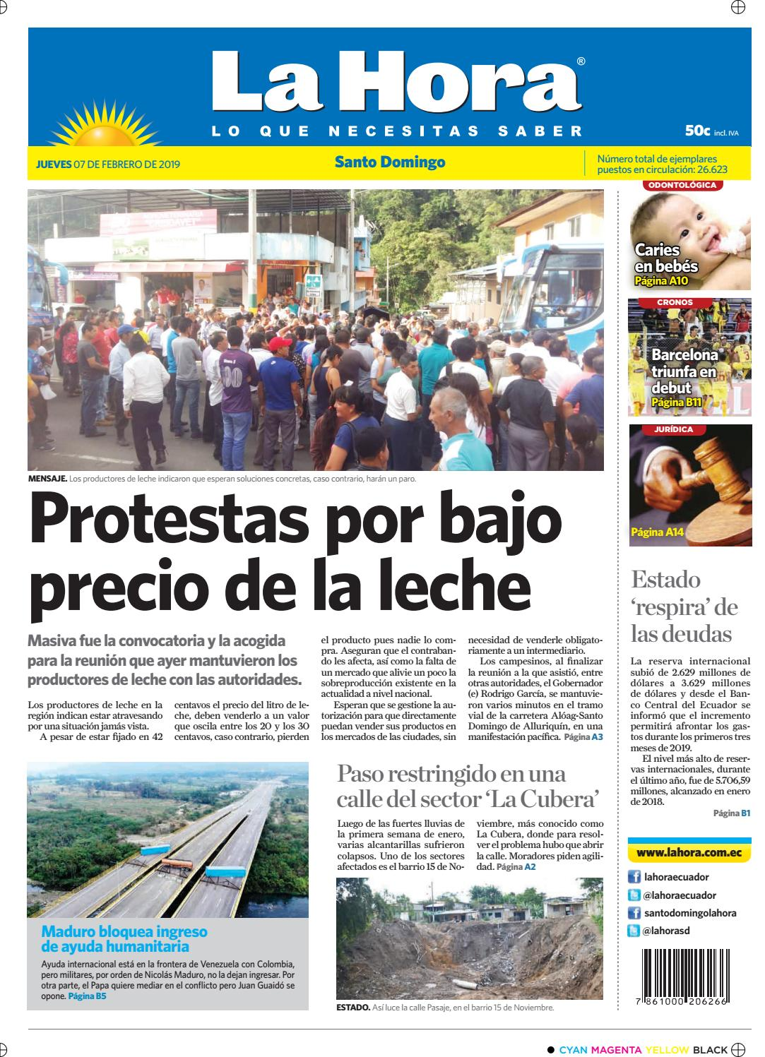 Santo Domingo 07 de febrero de 2019 by Diario La Hora Ecuador - issuu 3792e30bfbb9e