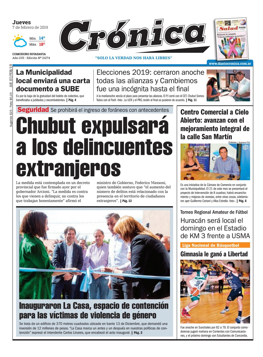 Diario cronica 07 02 2019 by Diario Crónica - issuu