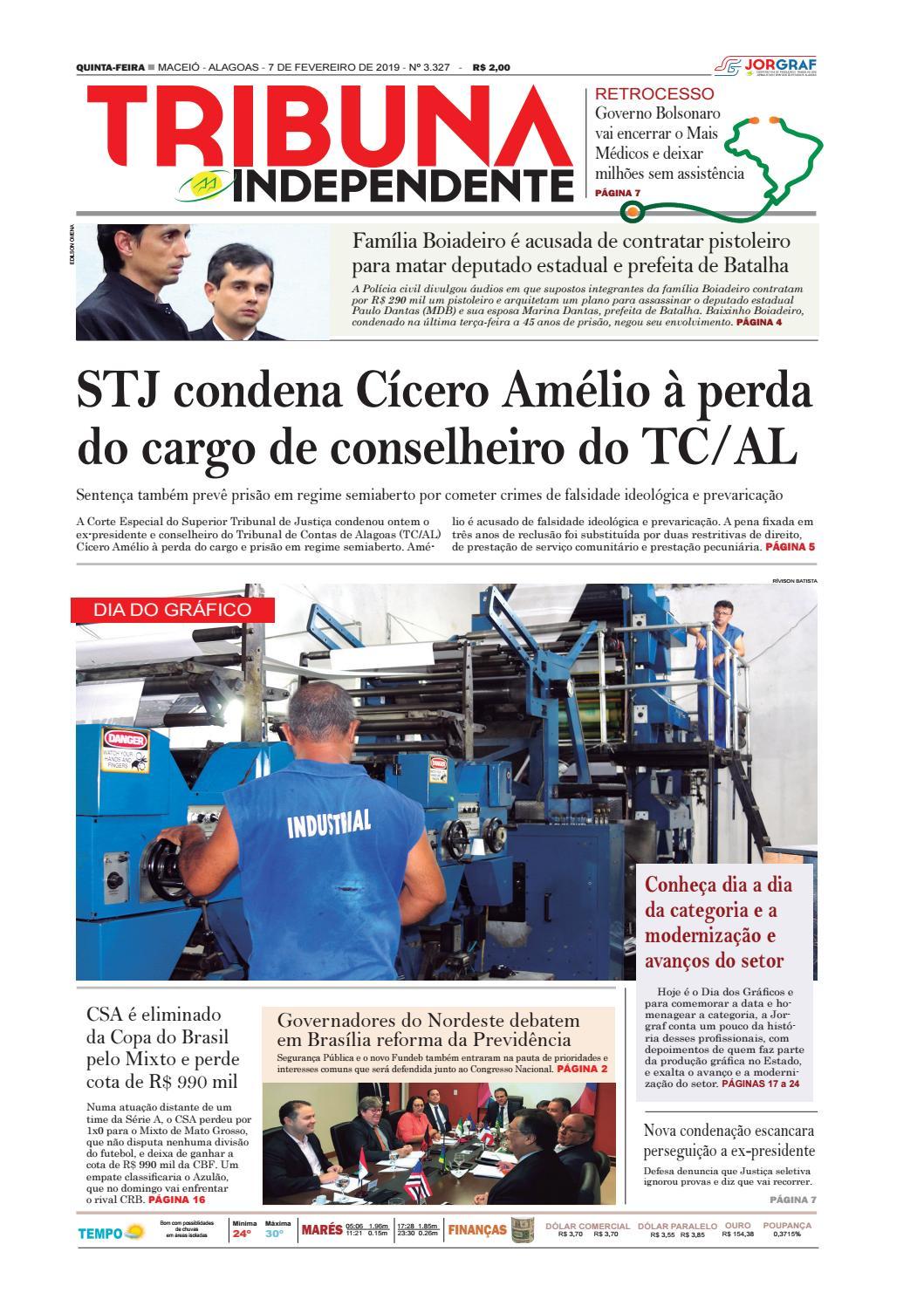 0e6b21dff5 Edição número 3327 - 7 de fevereiro de 2019 by Tribuna Hoje - issuu