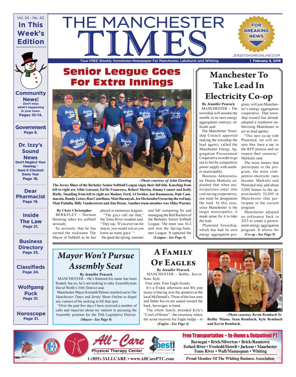 5a3de2ca58d2 2019-02-09 - The Manchester Times by Micromedia Publications Jersey Shore  Online - issuu