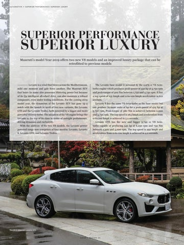 Page 64 of SUPERIOR PERFORMANCE..SUPERIOR LUXURY