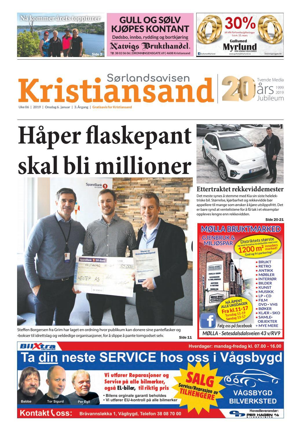9840d3c80 Sørlandsavisen Kristiansand - Uke 6 by Tvende Media AS - issuu