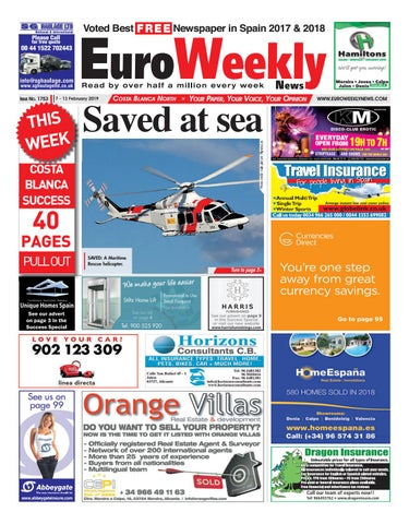 huge selection of 8740f 3e88b Euro Weekly News - Costa Blanca North 7 - 13 Feb 2019 Issue 1753 by ...