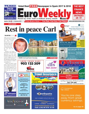 Euro Weekly News Costa Blanca South 7 13 Feb 2019 Issue 1753 By