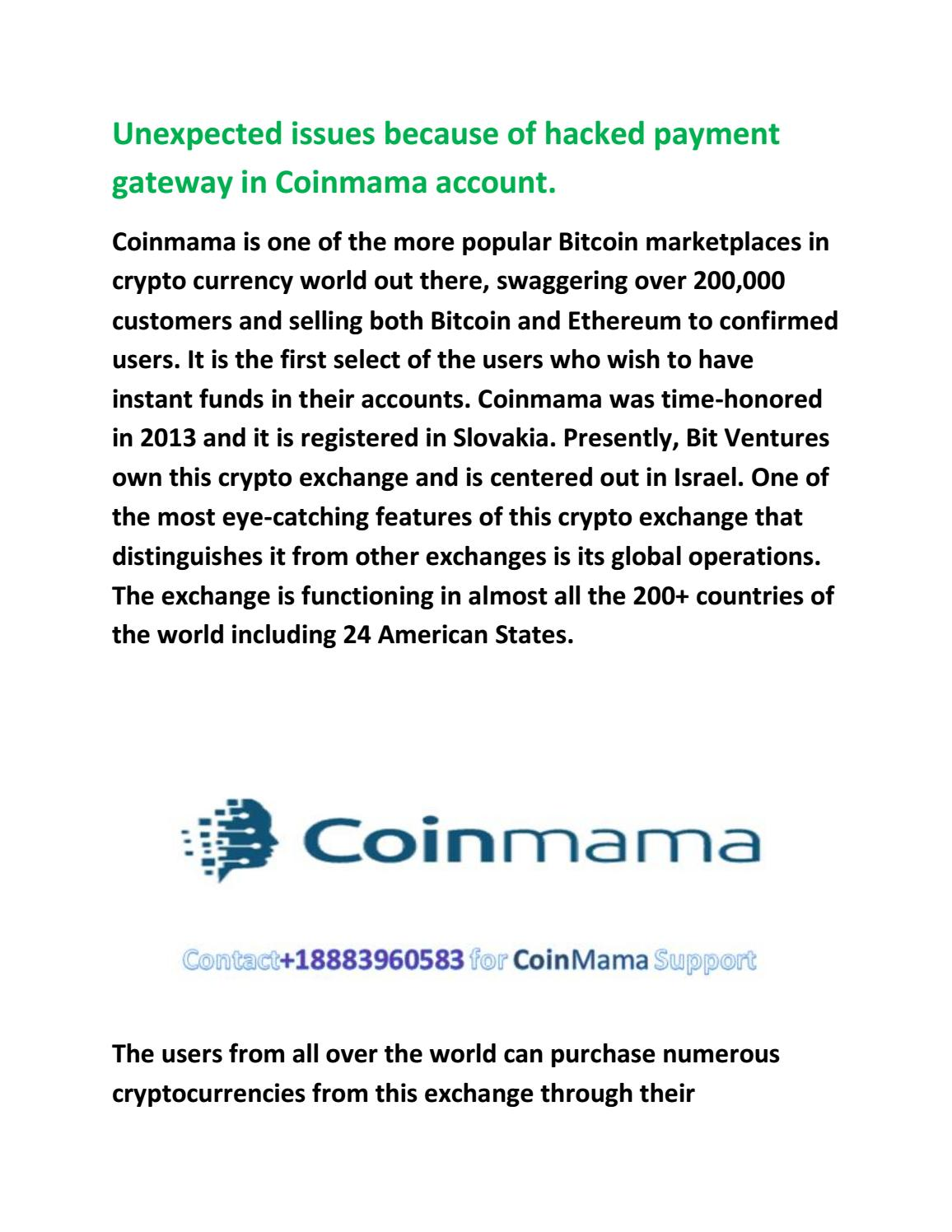 coinmama customer support phone number